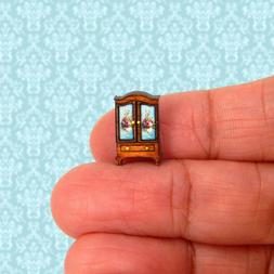 1/144th Scale Dollhouse Miniature French Country Armoire Fau