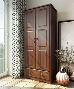 100 percent solid wood flexible wardrobe armoire