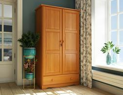 100 percent solid wood universal wardrobe armoire