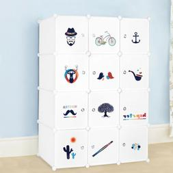 12 Cube Portable Shelf Clothes Closet Wardrobe Storage Organ