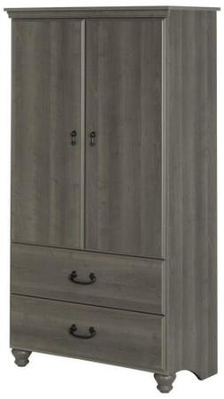 South Shore 2-Door Armoire with Adjustable Shelves and Stora