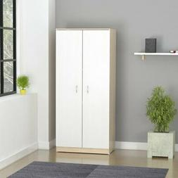 Inval 2-Door Bedroom Armoire - Laricina White