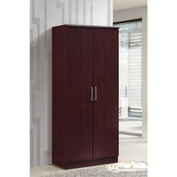 Hodedah 2 Door Wardrobe with Adjustable/Removable Shelves &