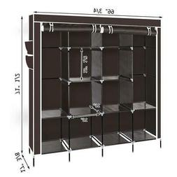 2 Hanging Clothes Rack Organizer Closet Armoire Durable Stor