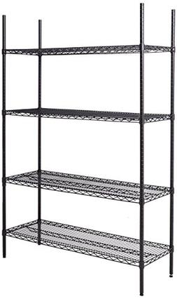 Wholesale CASE of 3 - Lorell Industrial Black 4-shelf Wire S