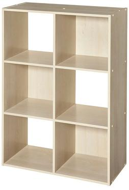 ClosetMaid 4176 cubeicals organizer, 6 cube, Birch wood shel