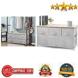 5 Drawer Dresser Storage Organizer Closet Shelves Clothing B