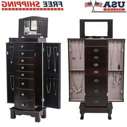 6/7/8 Drawers Jewelry Cabinet Armoire Box Storage Chest Stan