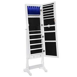 6 leds cabinet mirrored armoire