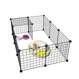 LANGRIA 24 PCS Pet Playpen, DIY Small Animal Cage for Guinea