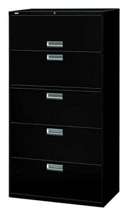 HON 685LP 600 Series Five-Drawer Lateral File  36w x19-1/4d