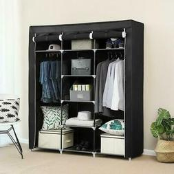 "69"" Portable Closet Wardrobe Clothes Ample Storage Space Org"