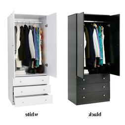 "70"" Wardrobe Large Armoire Cabinet Bedroom Closet Storage Fu"