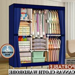 "71"" Portable Closet Wardrobe Clothes  Armoire Closet Storage"
