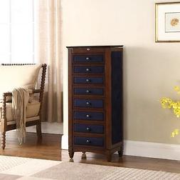 8 Drawer Jewelry Armoire