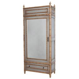 """84"""" Regency Mid Century Bamboo Armoire Cabinet Asian Antique"""