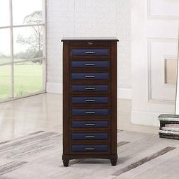 9 Drawer Jewelry Armoire with Cushions By Nathan Direct Coff