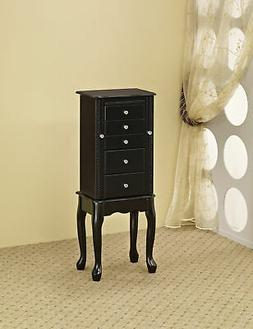 Coaster 900139 Jewelry Armoire With Flip Top Mirror Black