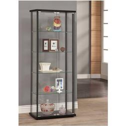 Coaster Home Furnishings 950170II Curio Cabinet Black-950170
