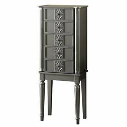ACME Furniture 97168 Tammy Jewelry Armoire, Silver