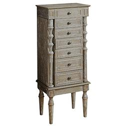 Acme Furniture 97173 Taline Jewelry Armoire, Weathered Oak
