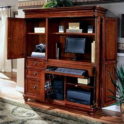 DMi Furniture DMi Antigua Wood Computer Armoire in Cherry