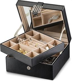 Glenor Co Jewelry Box Organizer - 17 Slot Small Classic Hold