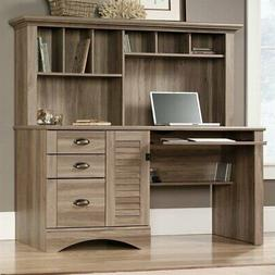 Sauder 415109 Harbor View Computer Desk with Hutch, L: 62.21