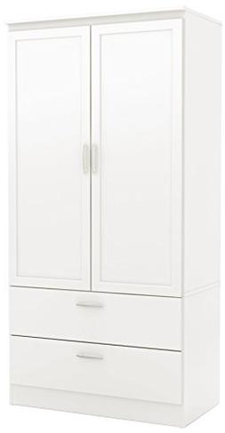 South Shore 5350038 2-Door Wardrobe Armoire with Adjustable