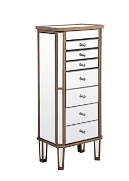 Decor Central ADMFX6-3309GC 7 Drawers 2 Doors Jewelry Armoir