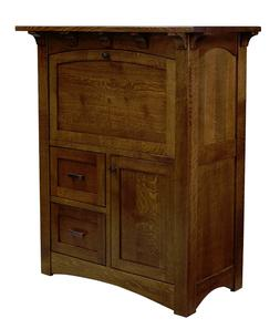 Amish Mission Computer Armoire Secretary Desk Solid Wood Off