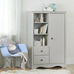 South Shore Furniture Angel Armoire - Soft Gray