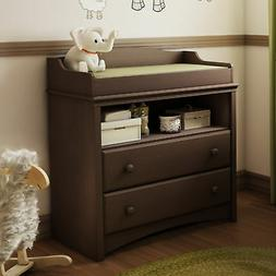 South Shore 2-Drawer Changing Table with Open Storage, Espre