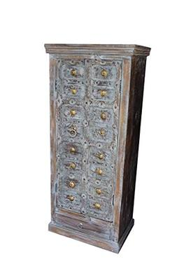 Mogul Interior Antique Indian Teak Cabinet Reclaimed Wood Vi