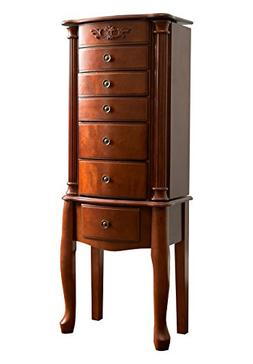 """Hives and Honey """"MORGAN"""" Jewelry Armoire, Antique Cherry"""