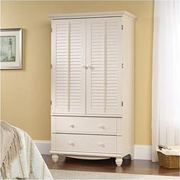 BOWERY HILL Armoire in Antiqued White