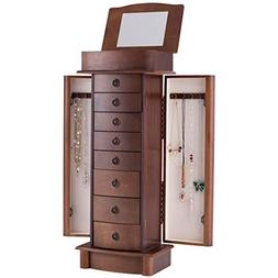 Giantex Jewelry Armoire Cabinet Stand with 8 Drawers,Top Div