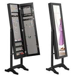 Giantex Jewelry Armoire Cabinet Organizer Storage Mirrored S