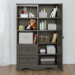 Armoire Cabinet with Drawers & Display Shelves Cupboard Stor