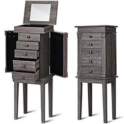 Giantex Jewelry Armoire Chest Box Cabinet Standing, with Top