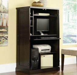 Armoire Computer Desk Cabinet Storage Wood Office Slide Out