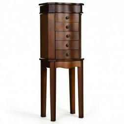 armoire storage jewelry cabinet with 5 drawers