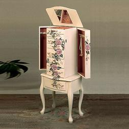Jewelry Armoire in White by Coaster Furniture