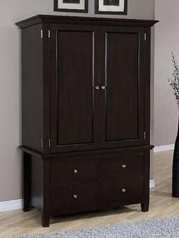 Armoire Wood 4-drawer Wardrobe Closet Tv Cabinet Storage Che