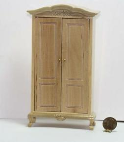 Dollhouse Miniature Armoire in Natural Wood