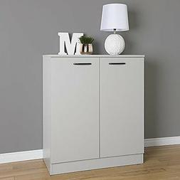 South Shore Axess 2-Door Storage Cabinet, Soft Gray