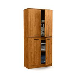 South Shore Axess Tall 4-Door Storage Cabinet with Adjustabl