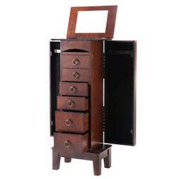 Giantex B01IVFQB4E Wooden Jewelry Cabinet Armoire