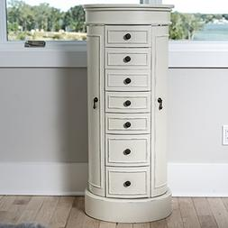 Hives and Honey Bailey Tuscan White Jewelry Armoire