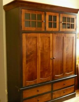 Beautiful two tone wood Armoire